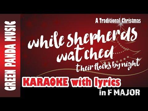 While Shepherds Watched - Christmas Carols Karaoke with Lyrics - A Traditional Christmas