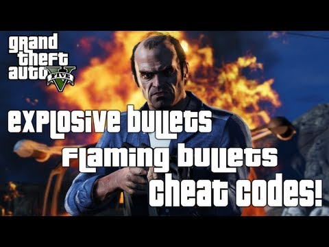 GTA 5: Explosive & Flaming Bullets Cheats! (Grand Theft Auto V Cheats)