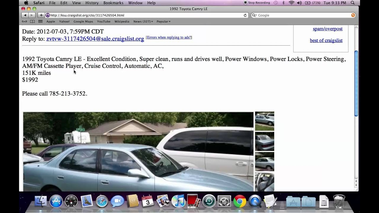 Craigslist Manhattan KS Used Cars  KSU Private for Sale by Owner