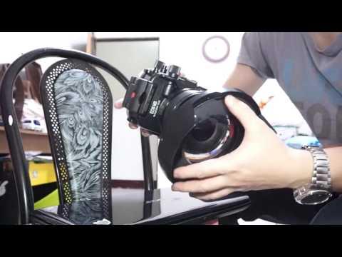 Meikon Canon Eos M3 Underwater Housing port to INON  TYPE Adapter ring&INON Focus, Zoom Contro