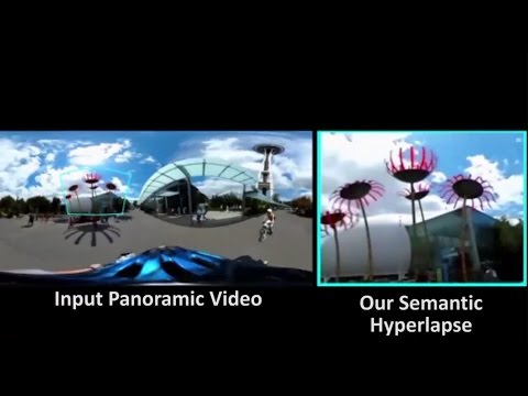 Semantic-driven Generation of Hyperlapse from 360° Video