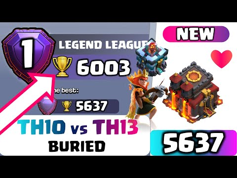 TH10 LEGEND | BURIED | COC TH 13 | Top 3 Higher League Attacks | 3 STAR