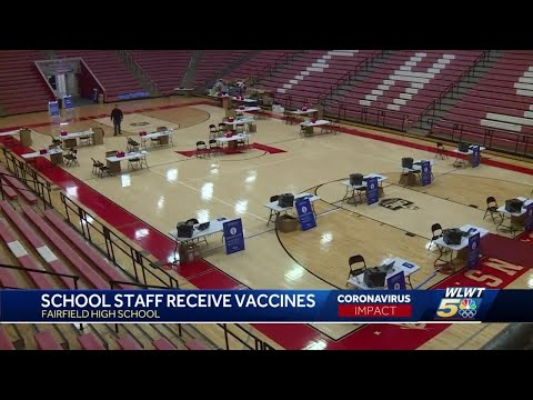 Staff at Fairfield schools receive first COVID-19 vaccine
