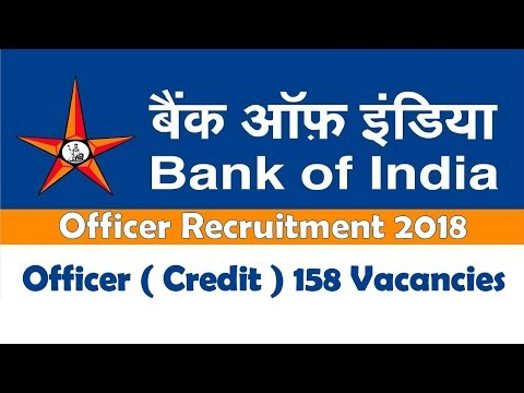 Bank of India Officer Recruitment 2018