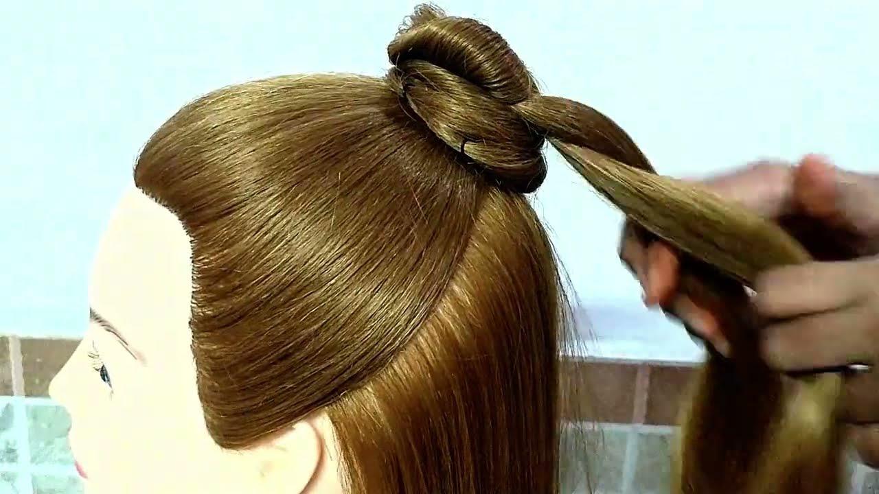 Easy High Bun Hairstyles For Girls || #juda Hairstyles For Everyday || Beautiful Half Bun Hairstyles