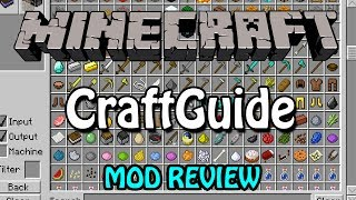 Minecraft Mod Review #7 | Craftguide (Crafting Made Easy)