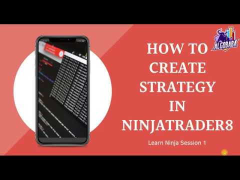 How To Create A Strategy in NinjaTrader 8