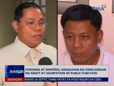 Saksi: Purisima at Napeñas, kinasuhan ng Ombudsman ng graft at usurpation of public function
