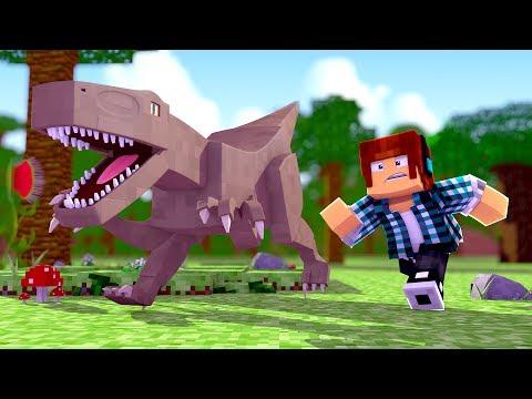 Minecraft: O DINOSSAURO FUGIU !! ( Ark Parque #09 )