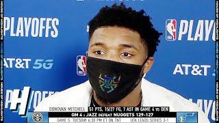 Donovan Mitchell Postgame Interview - Game 4 | Nuggets vs Jazz | August 23, 2020 NBA Playoffs