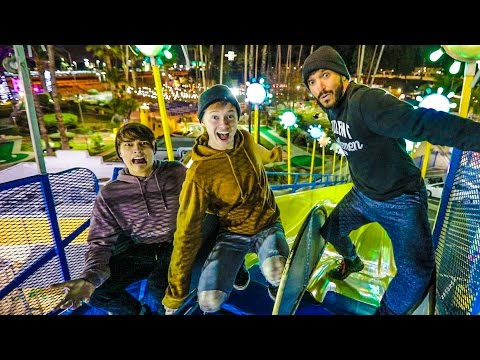 OVERNIGHT AT AN AMUSEMENT PARK!