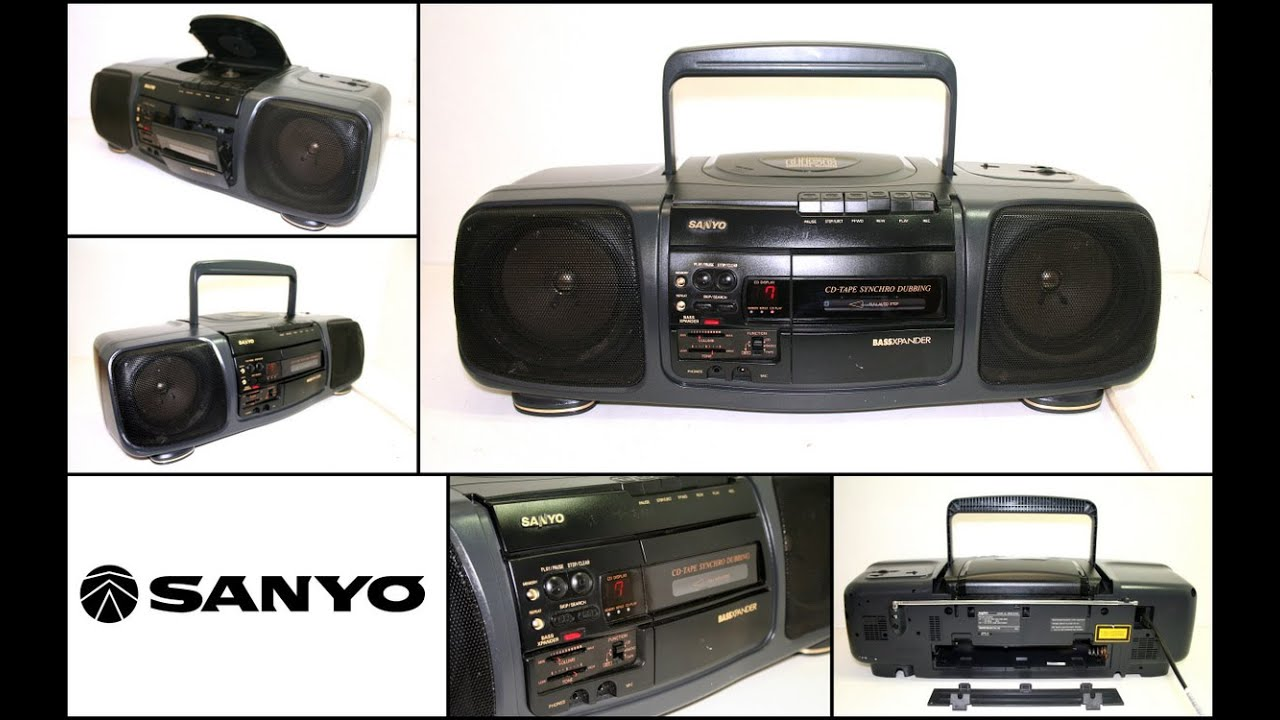 Download Vintage SANYO MCD-Z16K CD 4 Band Radio Cassette CD Player Boombox