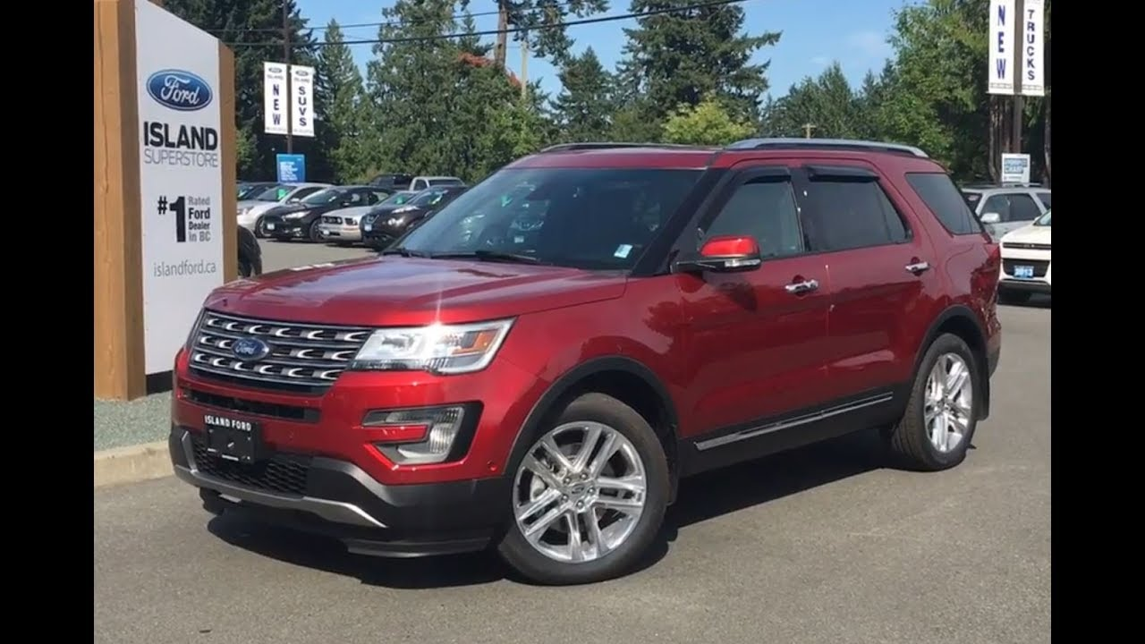 Ford Explorer Limited >> 2017 Ford Explorer Limited 301A AWD Review|Island Ford - YouTube