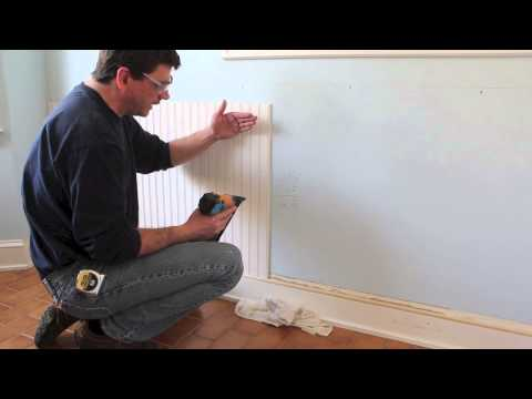 How to Design and install Chair Rail + bead board / wainscoting