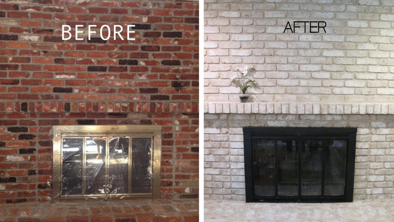 I painted my brick fireplace 5 years later a real - How to make a brick fireplace look modern ...