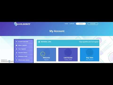 Earn Money Online register goldibit.com