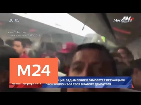 В Росавиации объяснили задымление на борту самолета с перуанскими болельщиками - Москва 24