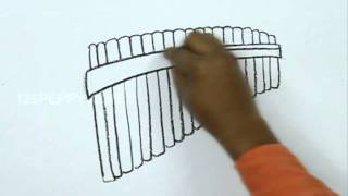 How to Draw a Pan Flute