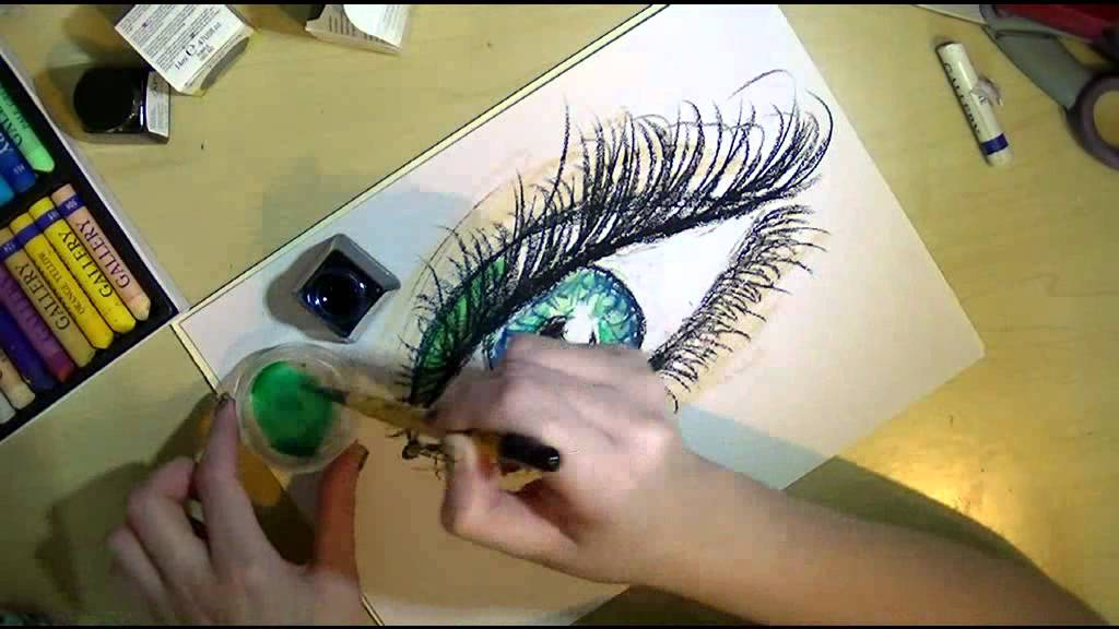 oil ink art journal tutorial youtube