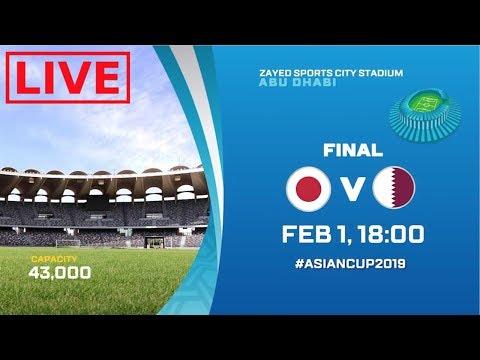 AFC ASIAN CUP   QATAR VS JAPAN LIVESTREAM   HD