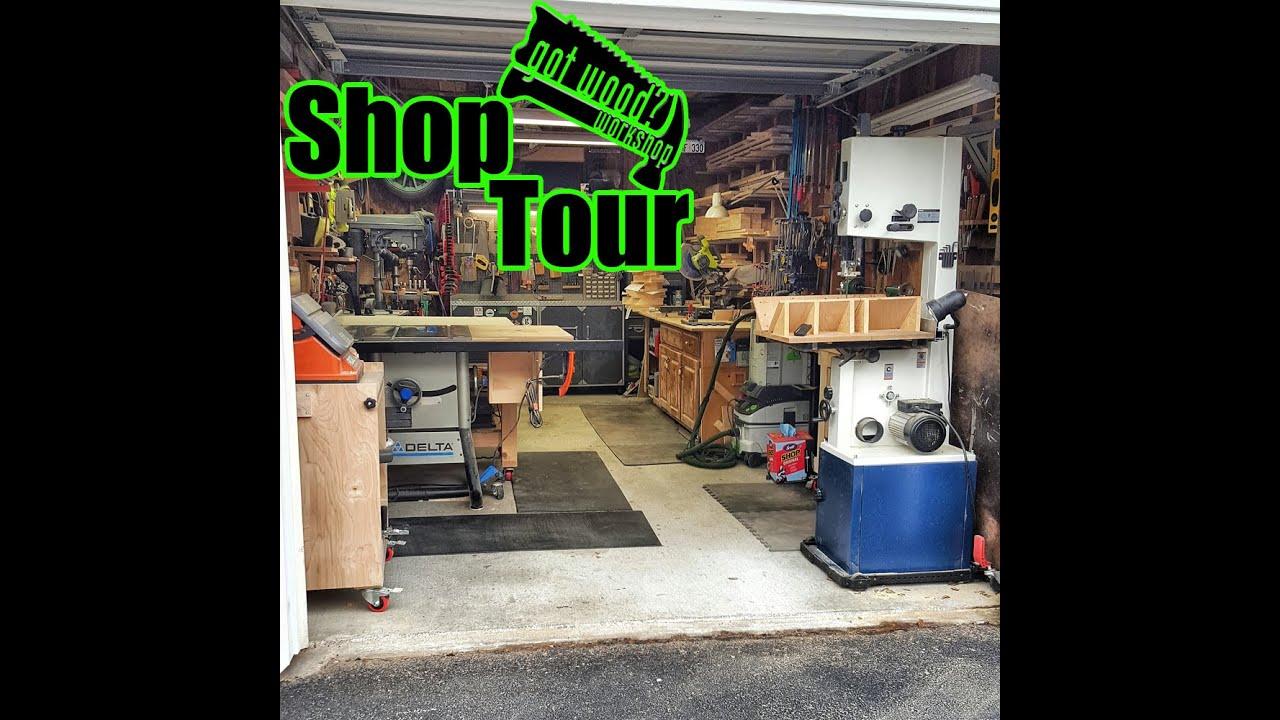 Got wood workshop shop tour single car garage 1 of 2 for Garage auto tours