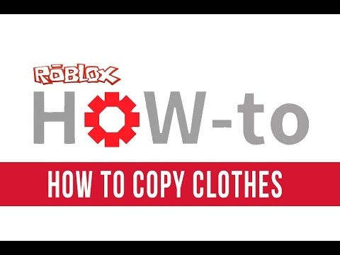 How to copy clothes on roblox 2014 doovi for Roblox how to copy shirts