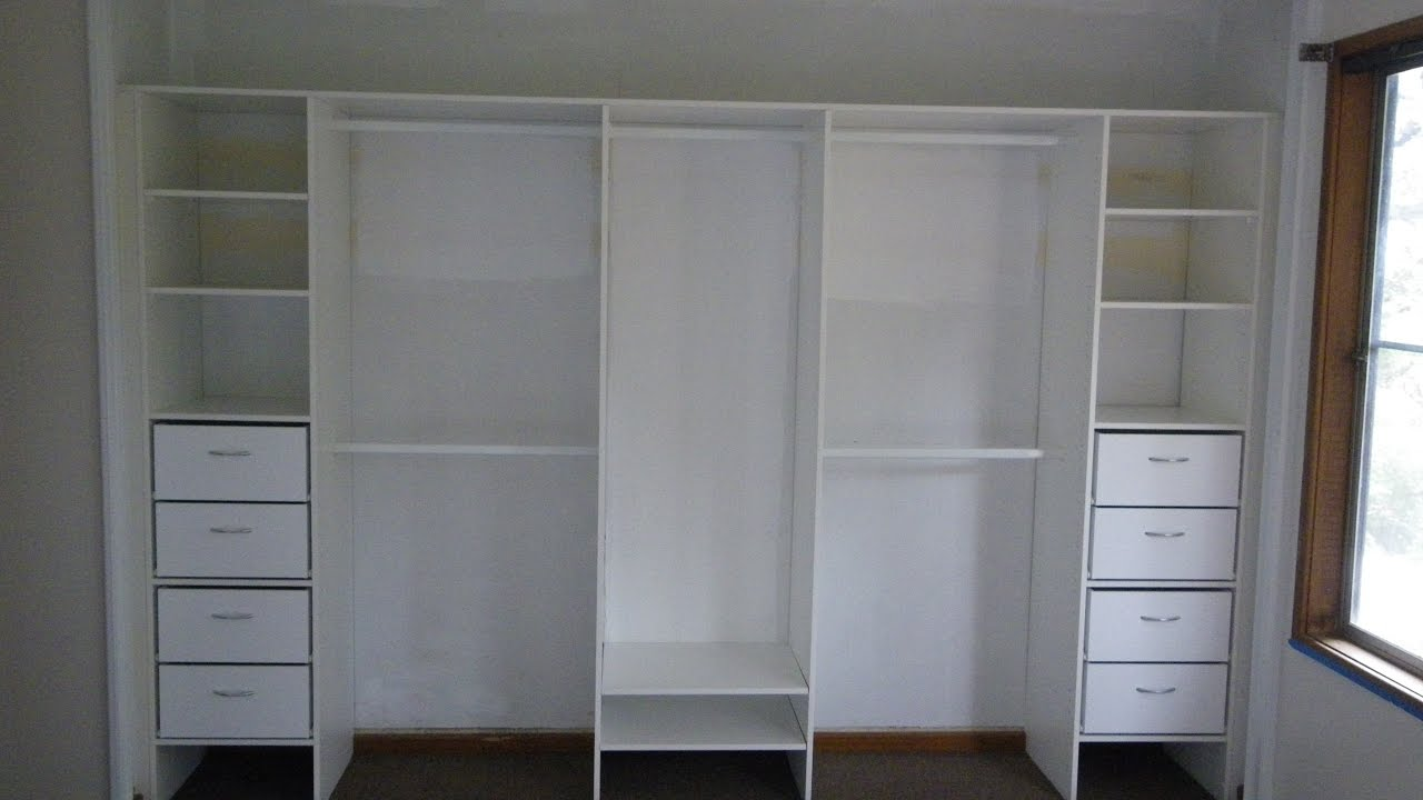 White Wardrobe With Drawers And Shelves