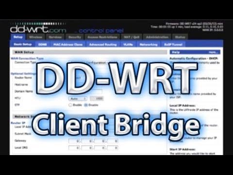 DD-WRT Client Bridge Setup
