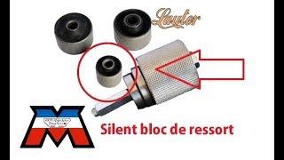Mobylette - changer facilement son silent bloc de ressort moteur