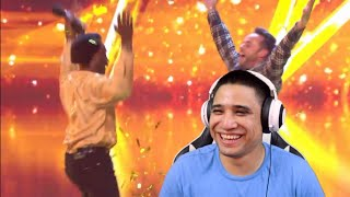 """THIS SONG IS LIT!! Donchez """"Wiggle and Wine"""" GOLDEN BUZZER performance BGT 2018 audition REACTION"""
