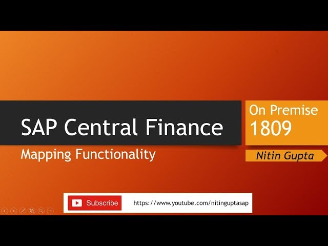 SAP Central Finance mapping functionality