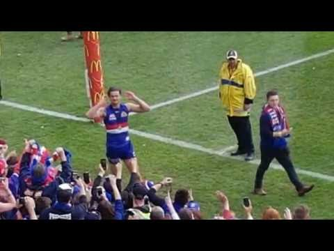 Western Bulldogs Premiership, after the game. 1 October 2016