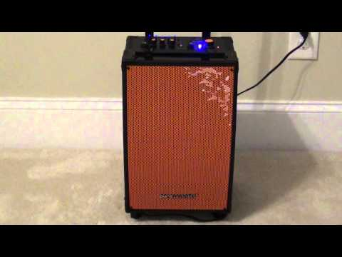 Pure Accoustics MCP 100 Bluetooth Speaker + Karaoke Machine + Guitar Amplifier