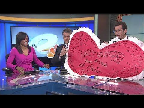 Sangaree Intermediate presents Rob Fowler with a Big Heart!