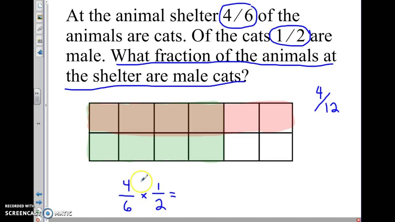 Multiplying Fractions Word Problems 5 B 6