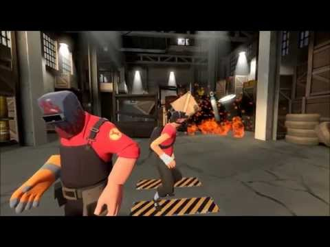Team Fortress Red vs. Blue: Tex fights Reds and Blues