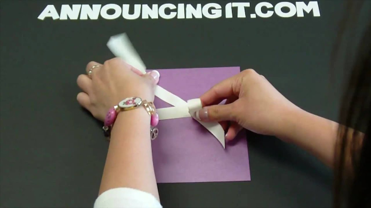 How to tie a Perfect Bow for an Invitation - YouTube