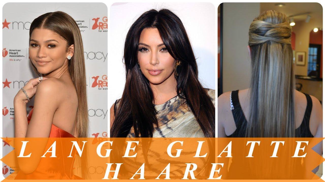 Schicke Frisuren Glatte Haare Lang Für Frauen Youtube