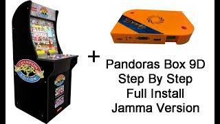 Pandors Box 9D Arcade Edition 3/4 Scale Arcade1Up Full Install