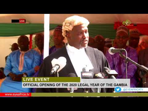 SPEECH BY BA TAMBEBOU ATTORNEY GENERAL AT THE OFFICIAL OPENING OF THE LEGAL YEAR 2020