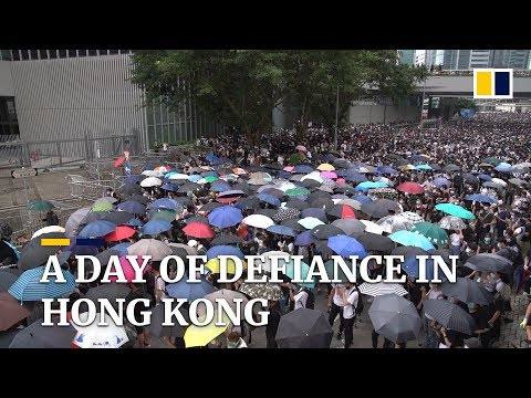 Day of defiance: Protest against contentious extradition bill in Hong Kong turns violent