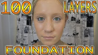 100 LAYERS OF FOUNDATION & 200 LAYERS OF DEODORANT! - 100 LAYERS CHALLENGE thumbnail