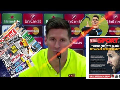 Gwo deklarasyon Messi sou Barcelone, Lautaro avèk ligue des Champions an || tout aktyalite football