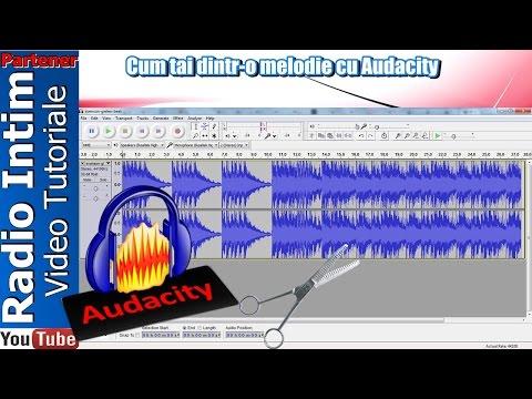 Cum tai dintr-o melodie cu Audacity