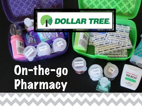 DOLLAR TREE ORGANIZING: On-the-go Pharmacy!