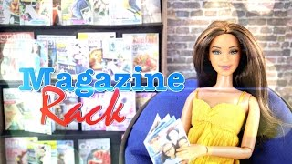 How to Make Doll Magazines & Magazine Rack - Doll crafts