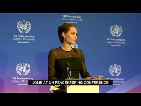 Angelina Jolie talks peace & women's rights at the UN