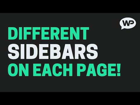 How To Add Different Sidebars to Pages on WordPress