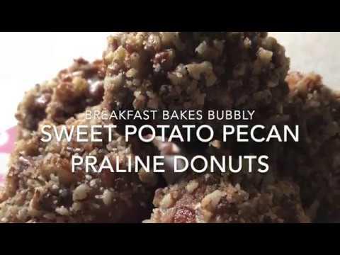 Sweet Potato Pecan Praline Donuts