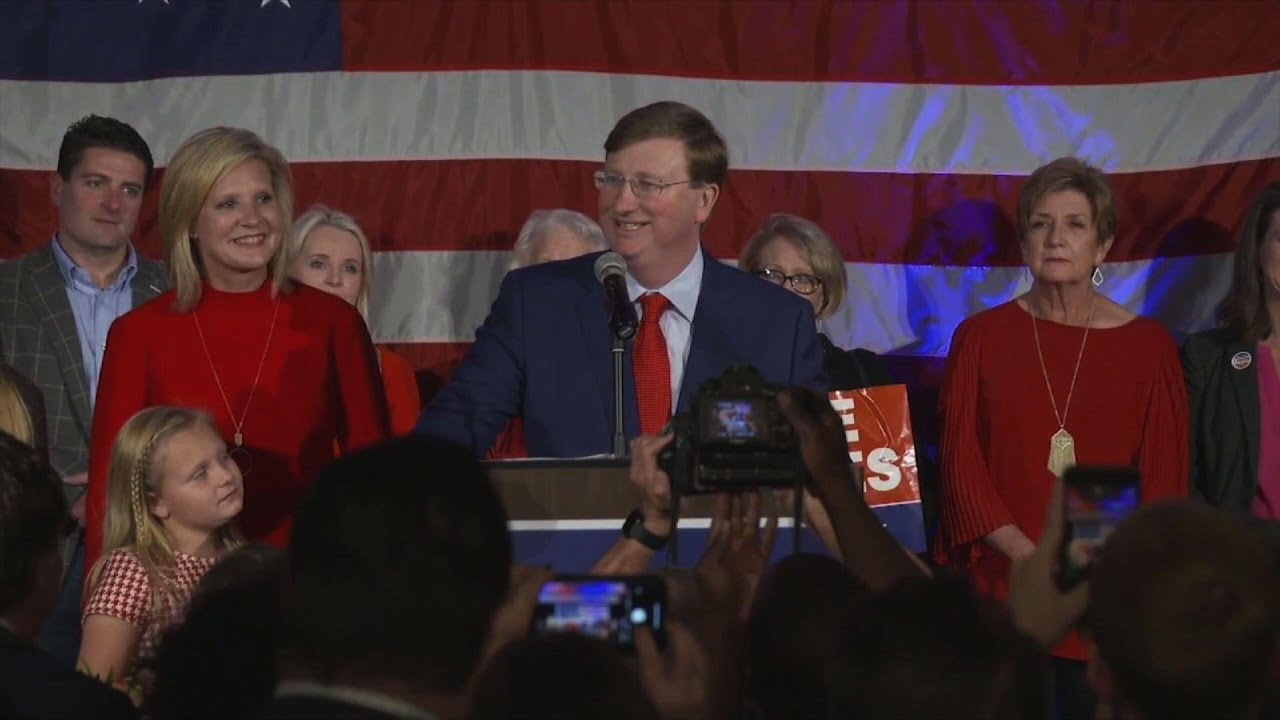 Republican wins competitive race for Mississippi governor